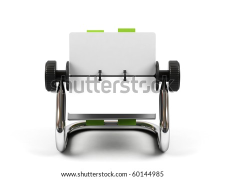 Organizer isolated on a white background. - stock photo