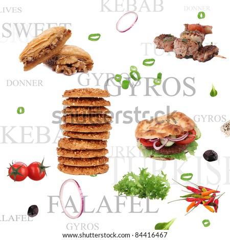 Orient food background