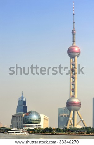 Orient Pearl Tower and Pudong Financial District, Shanghai, China