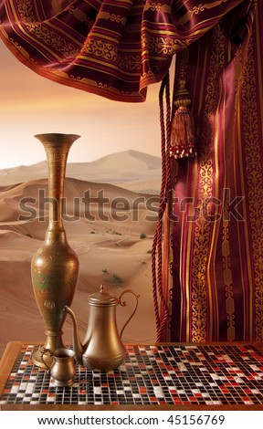 Orient Still-Life on a Sands background