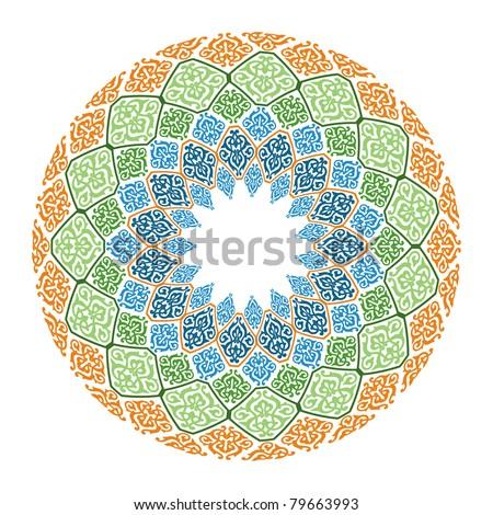 oriental  arabesque  Islamic art - stock photo