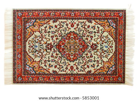 oriental carpet isolated on white background