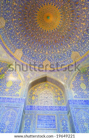 oriental ornaments from Isfahan Mosque, Iran