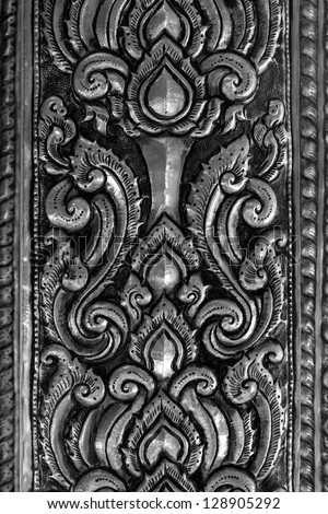 Oriental silver surround pattern of metal stamping