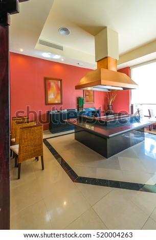 Oriental Style Japanese Room Lobby Entrance Hall Of Luxury Five Stars Resort