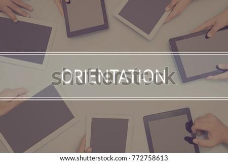ORIENTATION CONCEPT Business Concept. #772758613