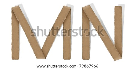 origami alphabet letter M N