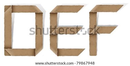 origami alphabet letters D E F
