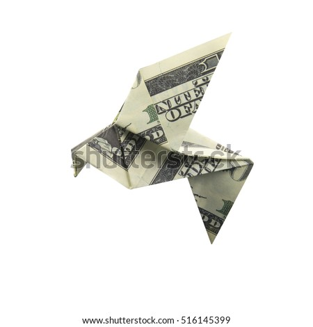 Origami Bird from banknotes #516145399
