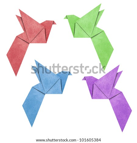 Origami Bird papercreft made from Recycle Paper