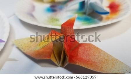 Origami Crane Art #668129059