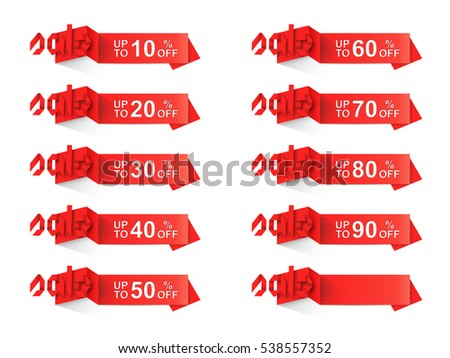 origami discount sale label