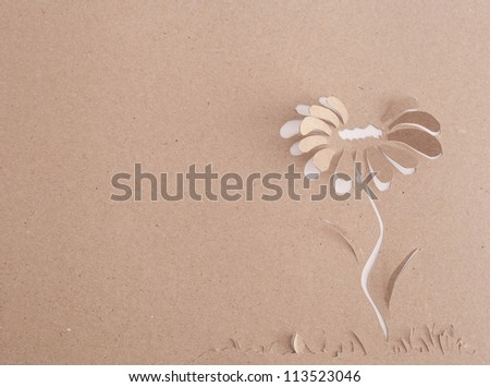 Origami flower - stock photo