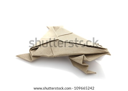 Origami frog by recycle papercraft