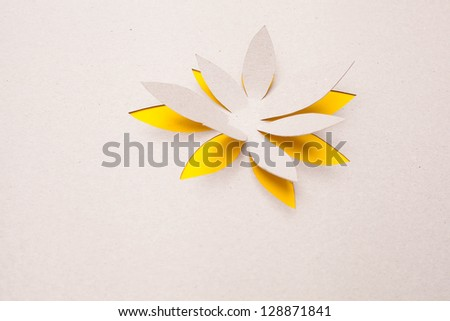 Origami  handmade cutout flower