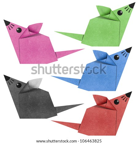 Origami mouse made from Recycle Paper