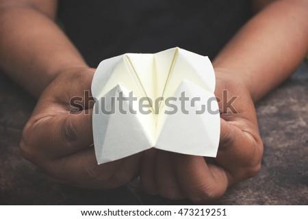 Origami paper fortune teller #473219251