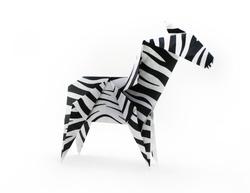 Origami paper zebra