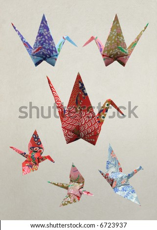 Origami; peace and happiness  crane