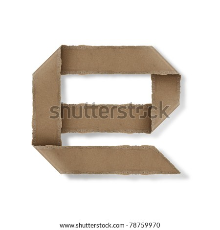 origami style alphabet letters. high resolution on white background. e