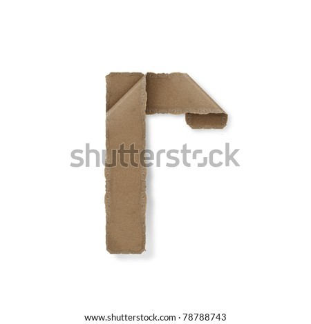 origami style alphabet letters. high resolution on white background. r