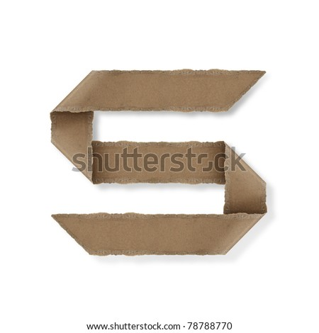 origami style alphabet letters. high resolution on white background. s