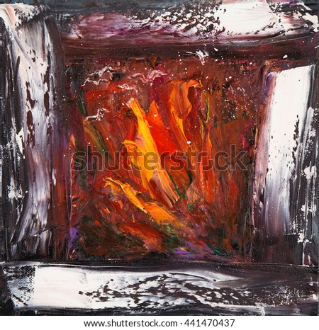 original abstract  oil painting ...