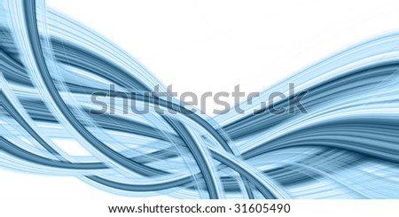 Original abstraction in bluish tones