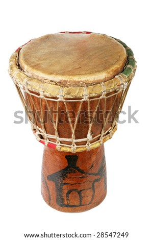 Original african djembe drum - stock photo