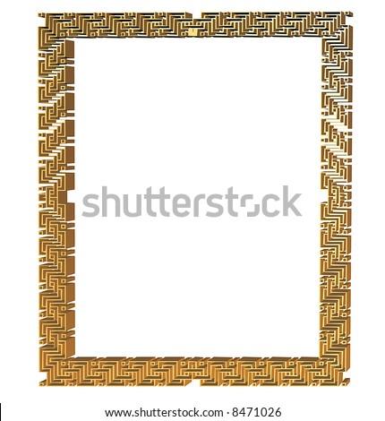 Deco Original on Original Art Deco Style Picture Frame In Gold Stock Photo 8471026