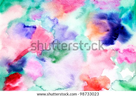 original art watercolor abstract background