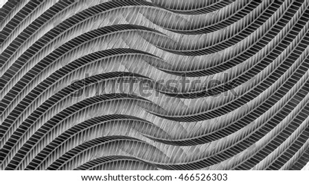 Shutterstock Original decorative panel in the form of a curvilinear brickwork. Substantially reworked photo of old brick wall. Distinctive architectural detail for an office or home. Contemporary interior design.