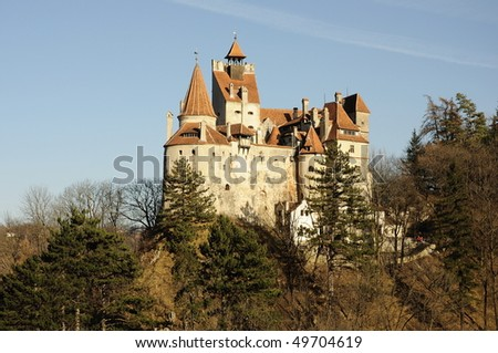Original Dracula's Bran Castle in the light of sunset More pictures with Dracula's Bran Castle in my portofolio !