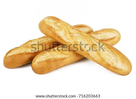 Shutterstock original french baguette on white background