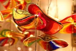 Original Murano glass lamp close-up