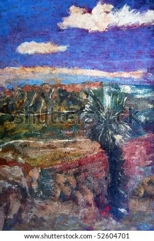 original oil painting of australian bush landscape