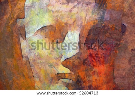 original oil painting of Queen Hatshepsut statue