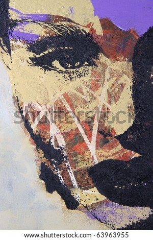 Stock Photo original oil painting on textured cotton canvas