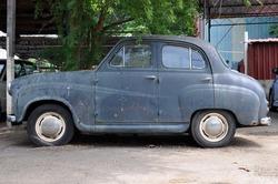 Original pre war Ford Anglia car in original condition