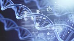Original science biotechnology DNA illustration
