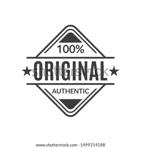 Original stamp or seal. 100% authentic typography print for t-shirt. High quality product icon, badge or label.