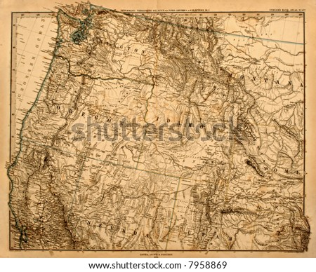 original vintage map of the us...