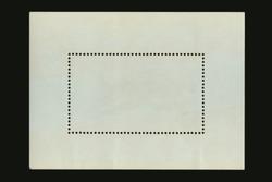 original vintage postmark blank label frame