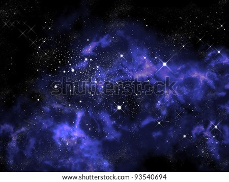 Orion and star in the universe