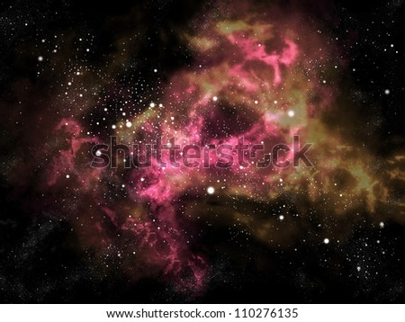 Orion in the universe with star and space background, Space concept
