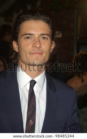 ORLANDO BLOOM at the USA premiere of his new movie The Lord of the Rings: The Return of the King, in Los Angeles. December 3, 2003  Paul Smith / Featureflash