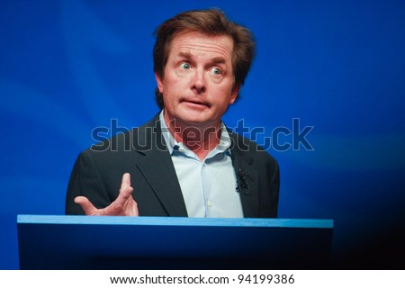 ORLANDO, FLORIDA - JANUARY 16: Actor Michael J. Fox delivers an address to IBM Lotusphere 2012 conference on January 16, 2012 in Orlando, Fl. He tells how social networks help him fight his Parkinson's disease