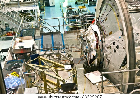 ORLANDO, USA - JULY 25: assembly of the ISS Space modules in the Kennedy Space Center  on July 25, 2010 in Orlando, USA.