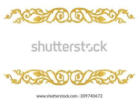 Ornament Elements Frame Vintage Gold Floral Designs 309740672