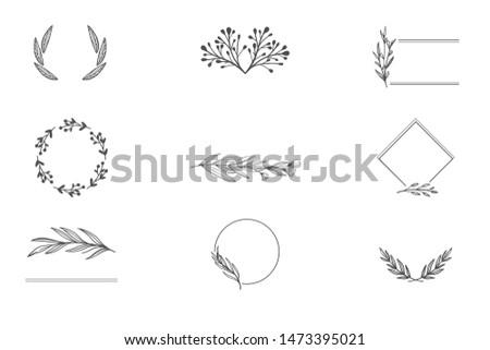 Ornament for Letter Head, Business Card Invitation Design